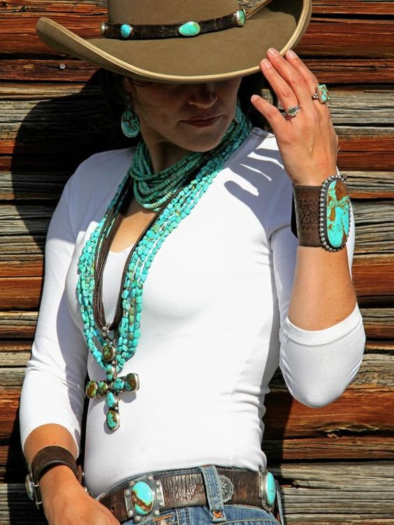 western look - Turquoise Choker from Brit West