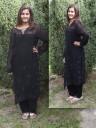 Fekete alkalmi indiai ruha