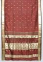 Indiai szári, Selyemszári Indiából, Rozsdabarna selyemszári