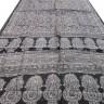 Indiai szári, Selyemszári Indiából, Fekete virágmintás selyemszári, Tradicionális indiai szári
