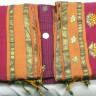 Indiai szári, Pamut szári Indiából, Szövött pamut szári, Aranyhímzéses selyemszári Indiából, Tradicionális indiai szári