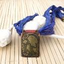 Egzotikus Gésa nyaklánc, Japán stílusú nyaklánc, Szári selyem nyaklánc