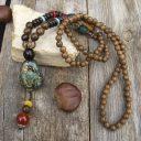 Női nepáli mála nyaklánc, Nepáli szerencse nyaklánc, Ezoterikus nyaklánc, Elefántos Amulett nyaklánc