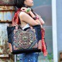 Thaiföldi Női Hímzett táska,  Kézzel készült, hímzett Thaiföldi táska, Thaiföldi női laptop táska
