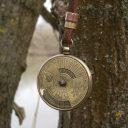 Indiai naptár nyaklánc, 50 év állítható naptár nyaklánc, Férfi bivalybőr nyaklánc, Uniszex naptár nyaklánc