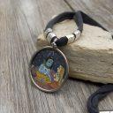 Női Rajastani nyaklánc, Indiai nyaklánc, Radha Krishna nyaklánc, Női amulett nyaklánc
