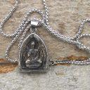 Női/Férfi Buddha nyaklánc, Indiai nyaklánc, Buddhista nyaklánc, Nemesacél Buddha nyaklánc, Amulett nyaklánc