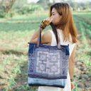 Tradicionális thaiföldi női táska, Hmong hímzett táska, Thai hímzett táska,