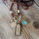 Női amulett nyaklánc, Buddha nyaklánc, Talizmán nyaklánc, Ezoterikus nyaklánc